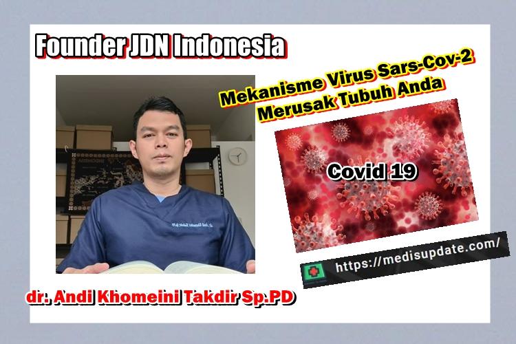 Cara virus Covid 19 menyebar ke tubuh