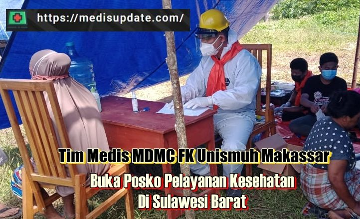 MDMC FK Unismuh Makassar Bantu Korban Gempa di Majene