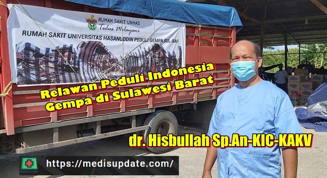 dr. Hisbullah dan Relawan Peduli Gempa di Sulbar