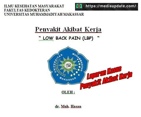 Kasus Low Back Pain Penyakit Akibat Kerja