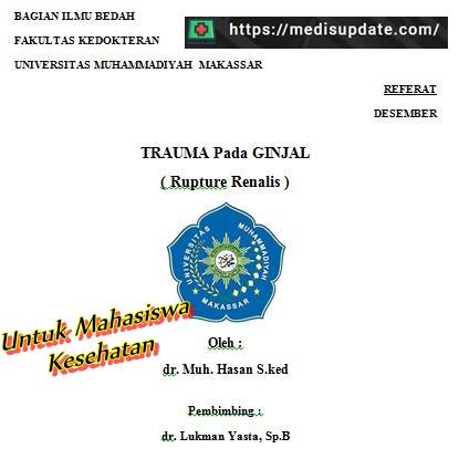 Referat Trauma Pada Ginjal